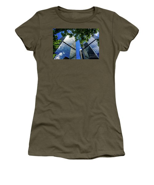 Skyscraper Spring Women's T-Shirt (Junior Cut) by Deborah Nakano