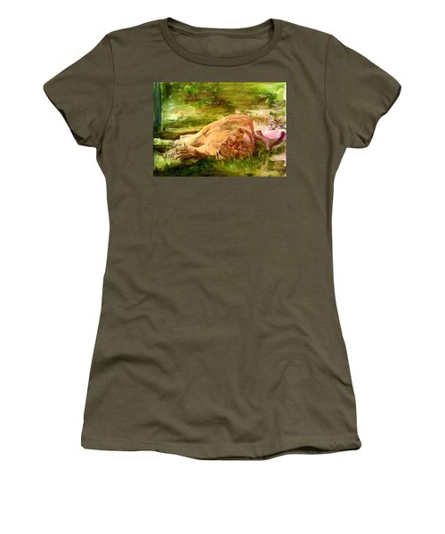 Sleeping Lionness Pushy Squirrel Women's T-Shirt (Athletic Fit)