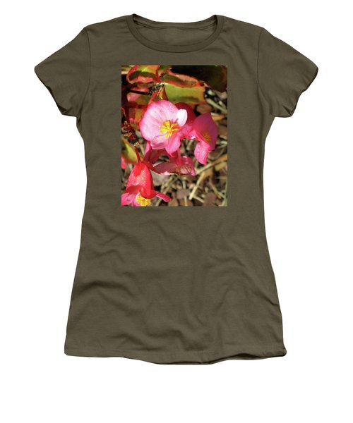 Small Pink Flowers Of Summer Women's T-Shirt (Junior Cut) by Michele Wilson