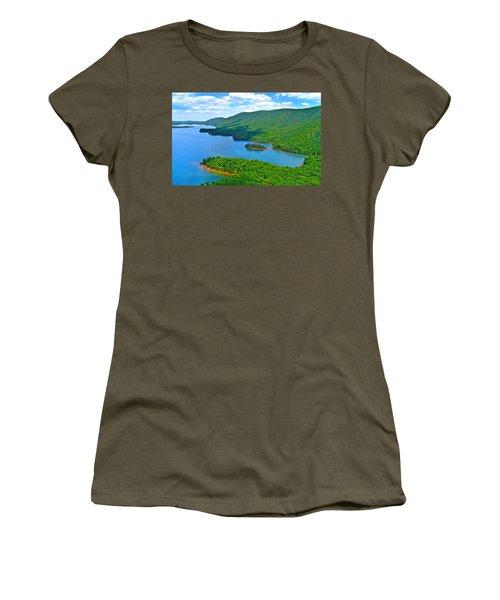 Smith Mountain Lake Poker Run Women's T-Shirt (Junior Cut) by American Shutterbug Soccity