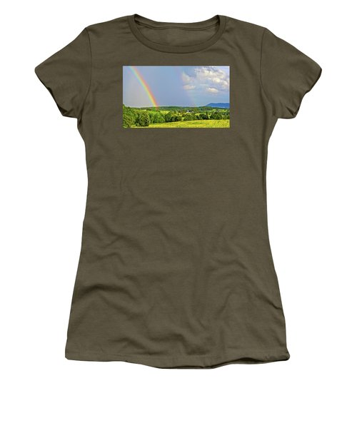 Smith Mountain Lake Rainbow Women's T-Shirt (Athletic Fit)