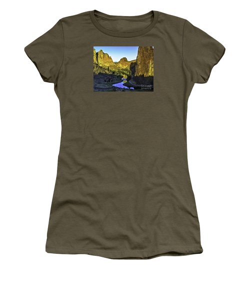 Women's T-Shirt (Junior Cut) featuring the photograph Smith Rock, Oregon by Nancy Marie Ricketts