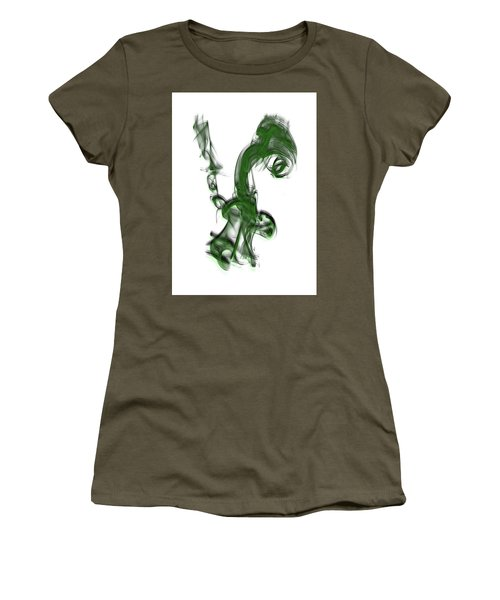 Smoke 01 - Green Women's T-Shirt (Athletic Fit)