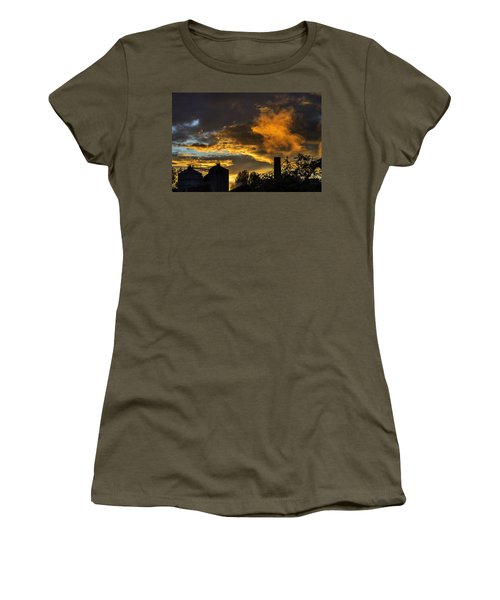 Women's T-Shirt (Junior Cut) featuring the photograph Smoky Sunset by Jeremy Lavender Photography
