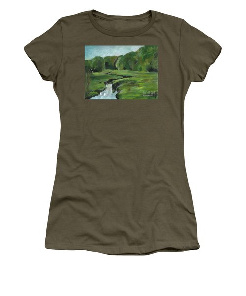 Snake Like Creek 2 Maine Women's T-Shirt (Athletic Fit)
