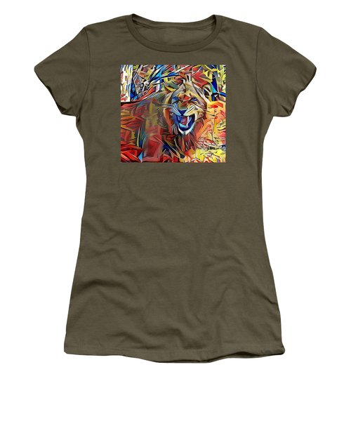 Snarling Lion Women's T-Shirt (Athletic Fit)