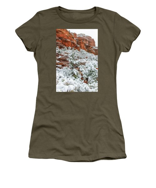 Snow 06-051 Women's T-Shirt (Junior Cut) by Scott McAllister