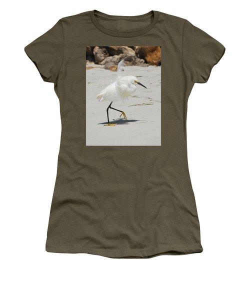 Snowy Egret 6429 Windy Women's T-Shirt