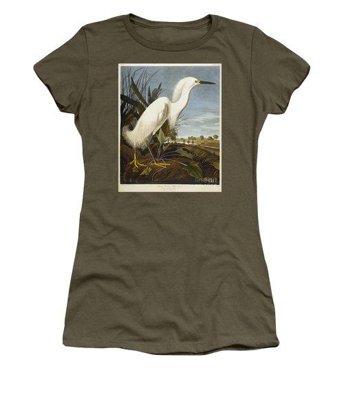 Snowy Heron Women's T-Shirt