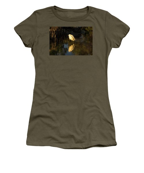 Snowy Kissed By Last Light Women's T-Shirt