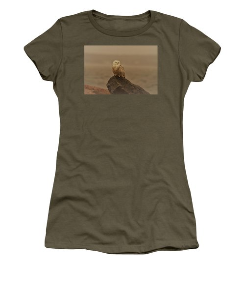 Snowy Owl In Sepia Women's T-Shirt