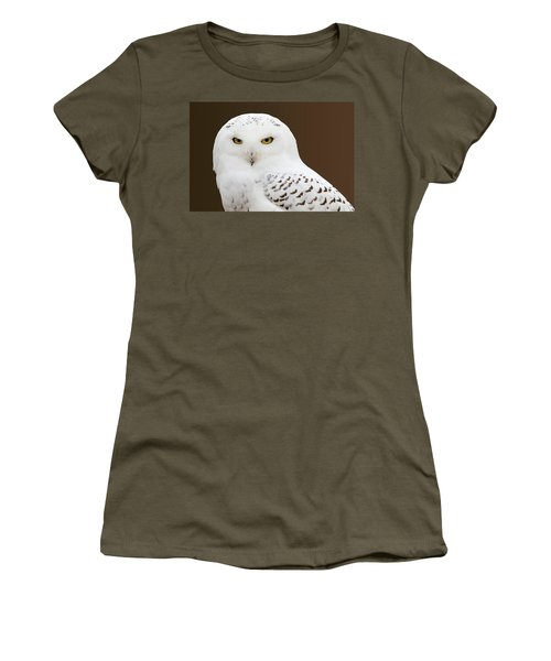 Snowy Owl Women's T-Shirt (Junior Cut) by Steve Stuller