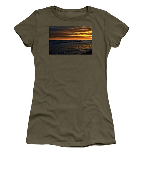 Women's T-Shirt (Athletic Fit) featuring the photograph Soaring In The Sunset by Kelly Reber