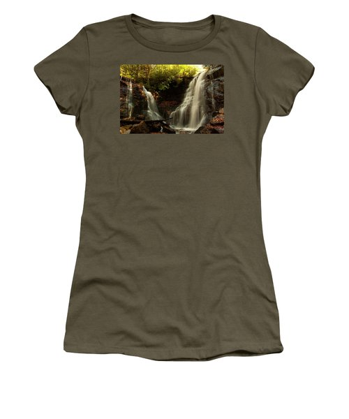 Women's T-Shirt (Athletic Fit) featuring the photograph Soco Waterfalls From Spillway by Chris Flees