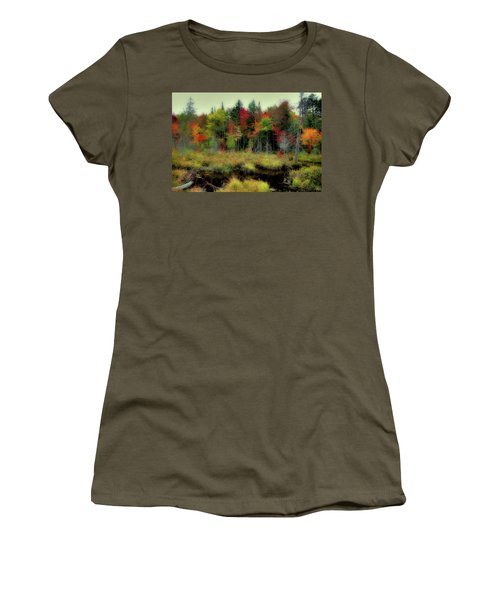 Women's T-Shirt (Athletic Fit) featuring the photograph Soft Autumn Color by David Patterson