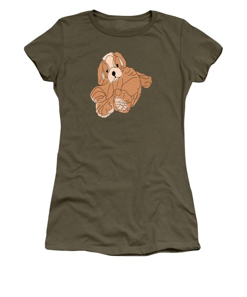 Women's T-Shirt featuring the digital art Soft Puppy by Jayvon Thomas