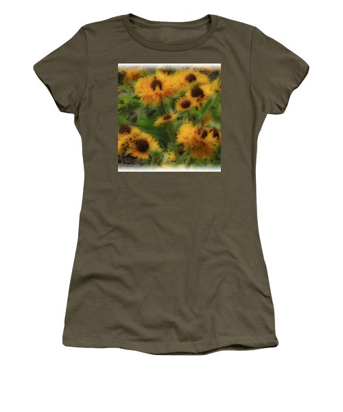 Women's T-Shirt (Junior Cut) featuring the photograph Soft Touch Black Eyed Suzy's  by Debra     Vatalaro