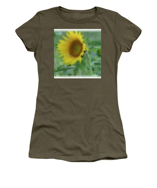 Women's T-Shirt (Junior Cut) featuring the photograph Soft Touch Sunflower by Debra     Vatalaro