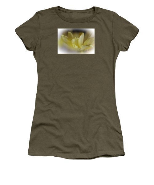 Women's T-Shirt (Junior Cut) featuring the photograph Soft Yellow by Yumi Johnson