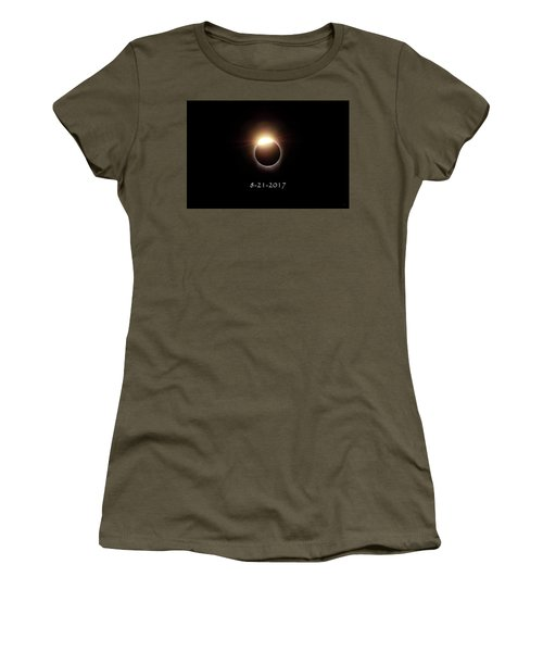 Solar Eclipse Diamond Phase Women's T-Shirt (Athletic Fit)