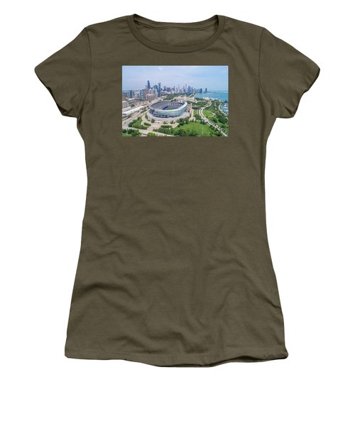 Women's T-Shirt (Athletic Fit) featuring the photograph Soldier Field by Sebastian Musial