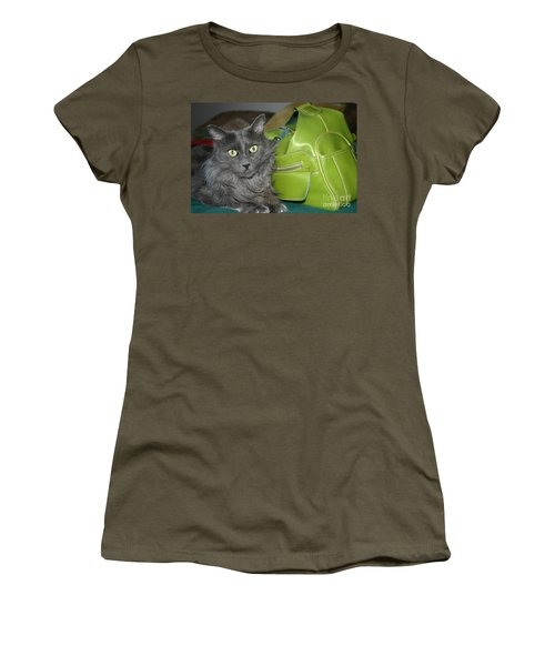 Someone Say Green? Women's T-Shirt (Junior Cut) by Marie Neder