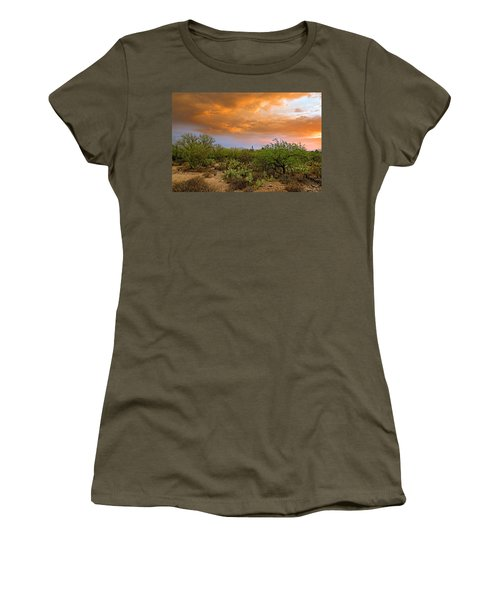 Women's T-Shirt (Athletic Fit) featuring the photograph Sonoran Desert H11 by Mark Myhaver