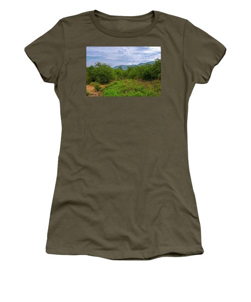 Women's T-Shirt (Athletic Fit) featuring the photograph Sonoran Greenery H30 by Mark Myhaver