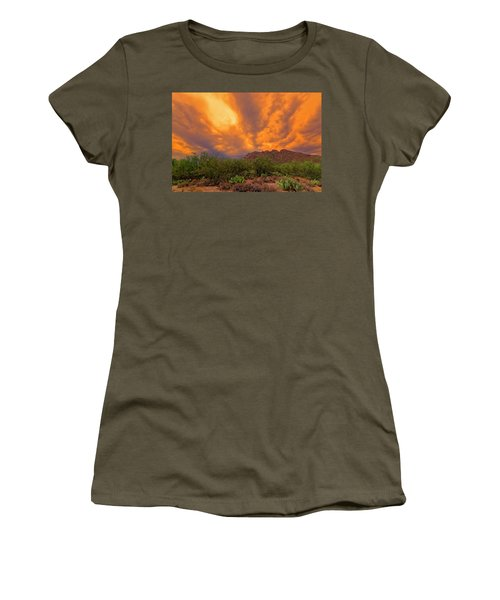 Women's T-Shirt (Athletic Fit) featuring the photograph Sonoran Sonata H16 by Mark Myhaver