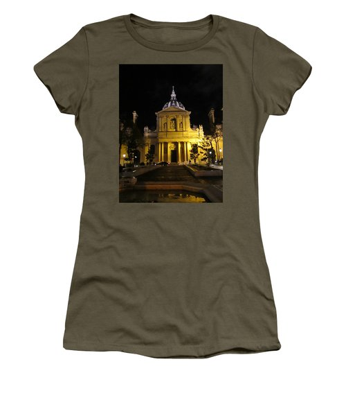 Women's T-Shirt (Junior Cut) featuring the photograph Sorbonne Night by Christopher Kirby