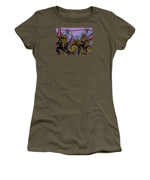 Women's T-Shirt (Junior Cut) featuring the digital art Sorcerers Apprentice by Karin Kuhlmann