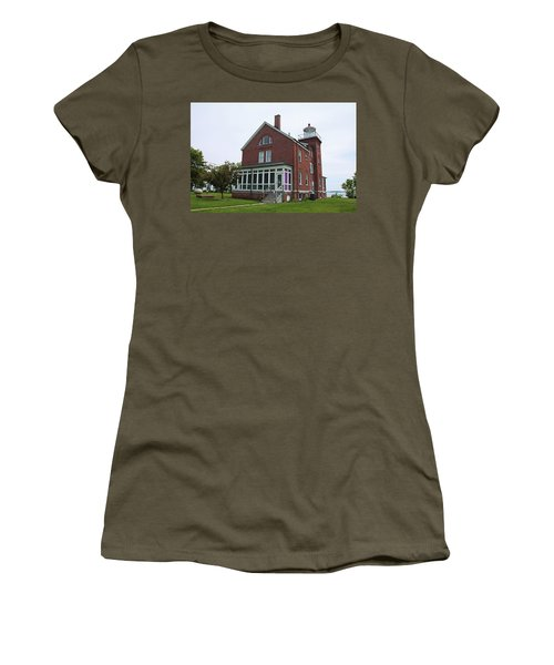 South Bass Island Lighthouse- Horizontal Women's T-Shirt (Junior Cut) by Michiale Schneider