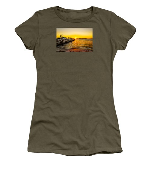South Beach Sunset Women's T-Shirt (Athletic Fit)