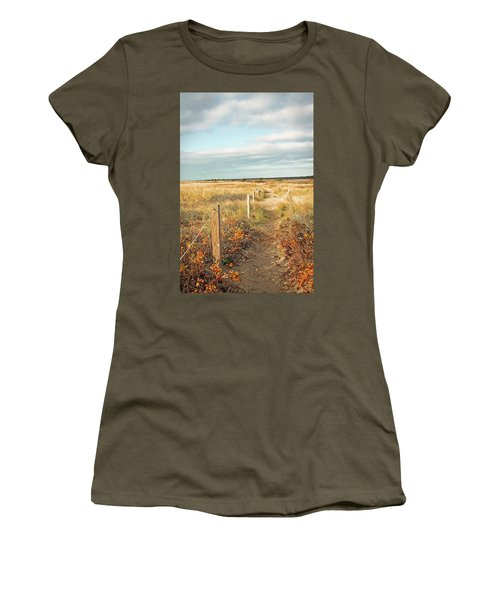 South Cape Beach Trail Women's T-Shirt (Athletic Fit)