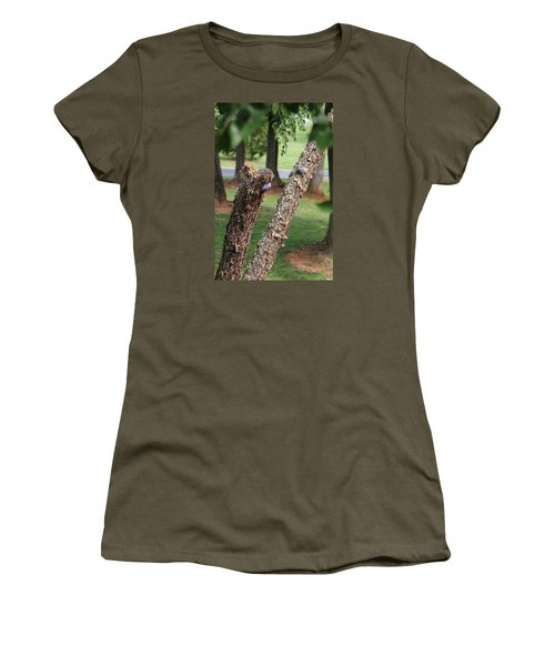 Women's T-Shirt (Junior Cut) featuring the photograph Southern Blue Birds by Debra     Vatalaro