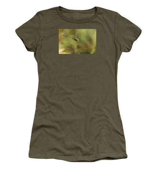 Women's T-Shirt (Junior Cut) featuring the photograph Southern Blue Hawker Male by Jivko Nakev