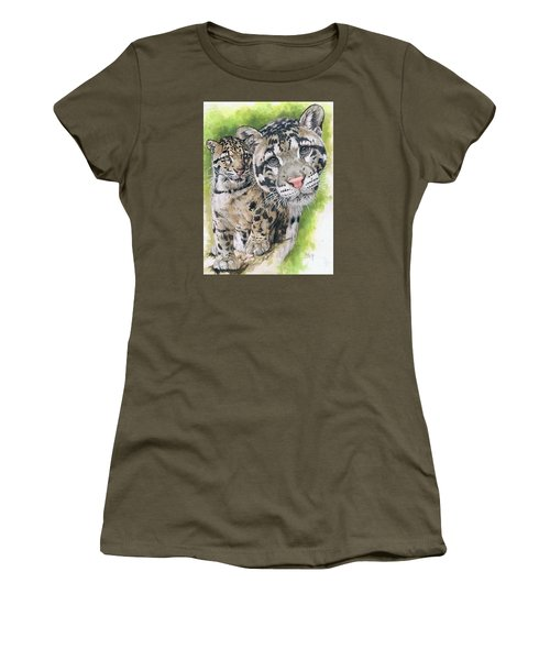 Women's T-Shirt (Junior Cut) featuring the mixed media Sovereignty by Barbara Keith