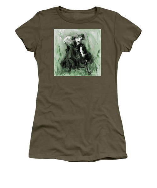 Women's T-Shirt (Junior Cut) featuring the painting Spanish Flamenco Dancer by Gull G