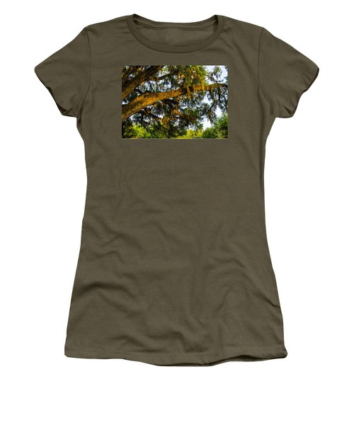 Spanish Moss In The Gloaming Women's T-Shirt (Junior Cut) by Deborah Smolinske