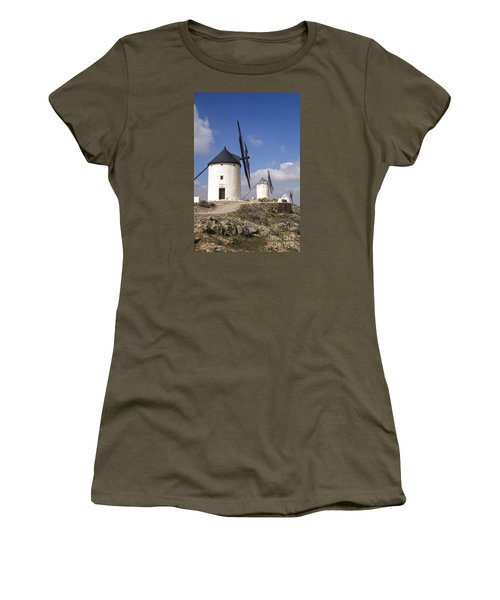 Spanish Windmills In The Province Of Toledo, Women's T-Shirt (Junior Cut) by Perry Van Munster