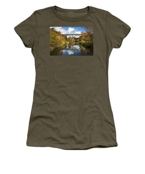 Spanning The Cuyahoga River Women's T-Shirt
