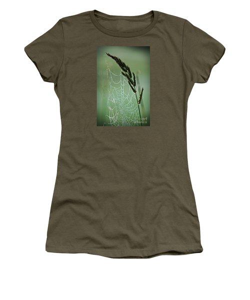 Spider Web Art By Nature Women's T-Shirt (Junior Cut) by Ella Kaye Dickey