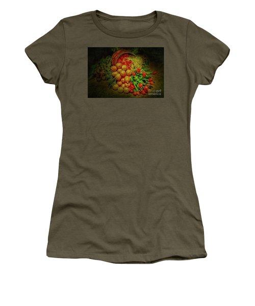 Spilled Barrel Bouquet Women's T-Shirt (Junior Cut) by Sandy Moulder