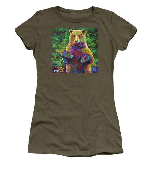 Women's T-Shirt (Junior Cut) featuring the painting Spirit Bear by Robert Phelps