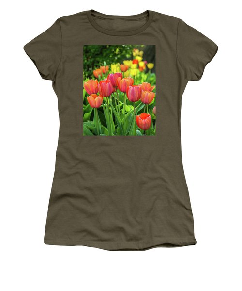Women's T-Shirt (Athletic Fit) featuring the photograph Splash Of April Color by Bill Pevlor