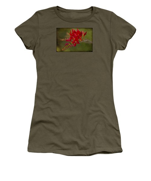 Splash Of Red. Women's T-Shirt (Junior Cut) by Clare Bambers