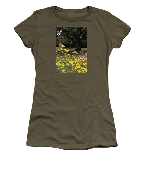 Splashes Of Yellow Women's T-Shirt (Junior Cut) by Suzanne Gaff