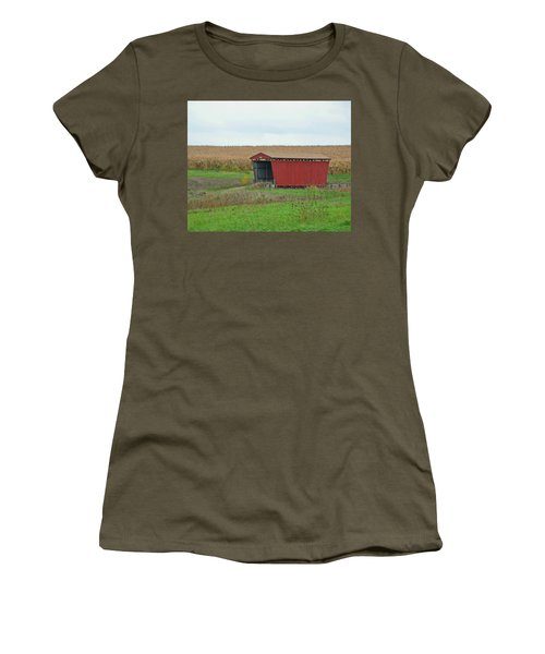 Splinter Covered Bridge Women's T-Shirt (Athletic Fit)