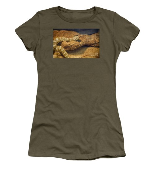 Spotted Rattlesnake   Blue Phase Women's T-Shirt (Junior Cut) by Anne Rodkin