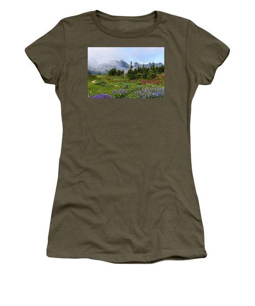 Spray Park In Mount Rainier Women's T-Shirt